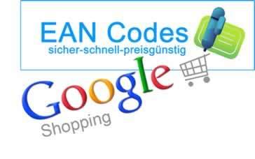 EAN Codes Nummern für Google Shopping Data Feed