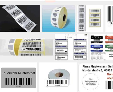 Barcode Etiketten für EAN Nummern