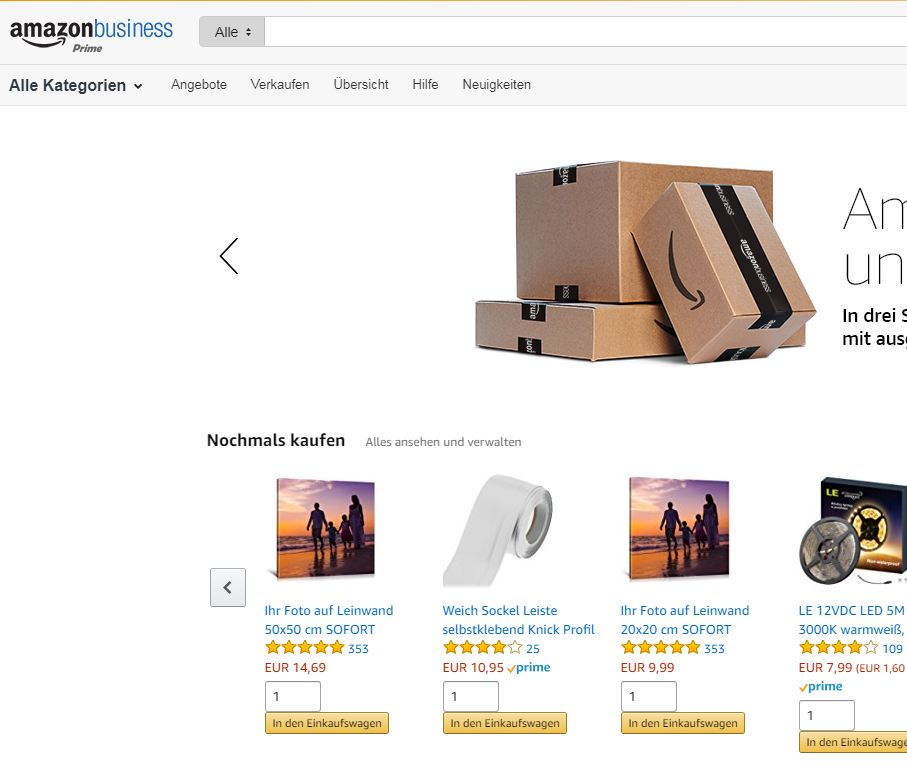 Amazon ein großer Konkurrent für Online Händler